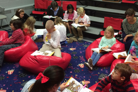 Stories for children at First Presbyterian Church in Iowa City